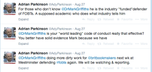 Parkinson Libel Tweets 2014